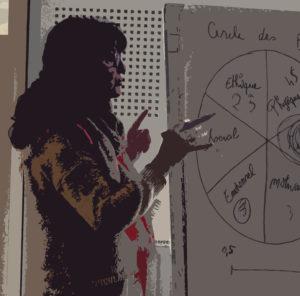 Sylvie Potier lors dune formation sur la communication emphatique et la bienveillance