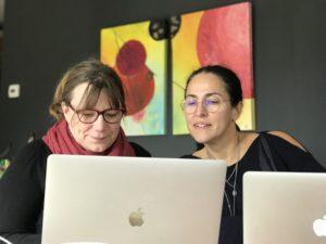 Alexandra Deprez et Jocelyne Guillon, 2 ingénieures pédagogiques e-learning